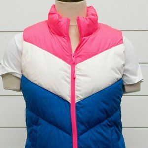 NWT Womens GAP Warmest Puffer Vest Neon Pink Rose